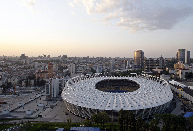 Le stade olympique de Kiev, cadre inédit d'un débat Porochenko-Zelensky ce vendredi 19 avril 2019.