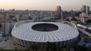 Le stade olympique de Kiev, où se déroulera, normalement, le match final de l'Euro-2012.