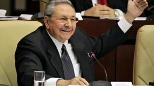 El presidente cubano Raúl Castro, febrero de 2013.