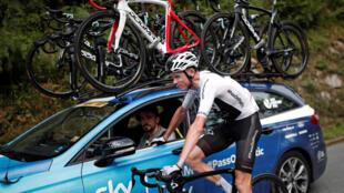 Dans le Tour de France 2018, la forme de Chris Froome bat de l'aile.