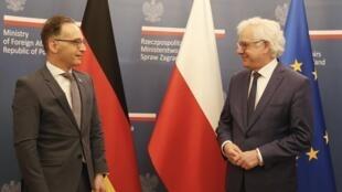 وزیران امور خارجۀ لهستان و آلمان