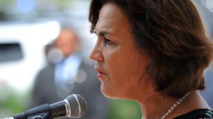 Élisabeth Beton-Delègue le 16 novembre 2015 à Port-au-Prince lorsqu'elle était ambassadrice à Haïti.