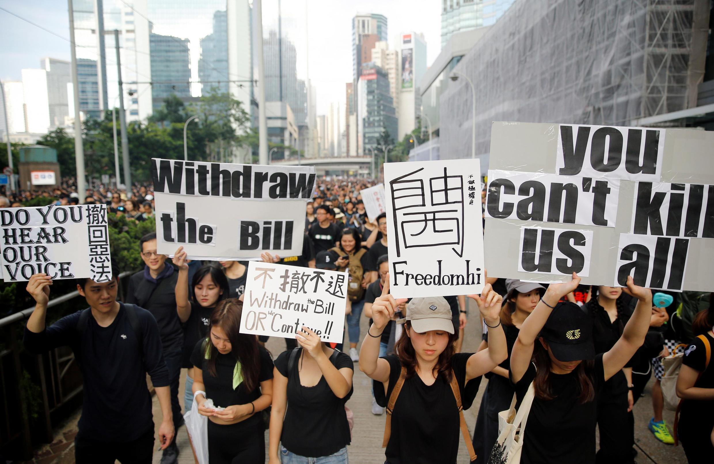 В воскресенье, 16 июня, на демонстрацию протеста в Гонконге вышли тысячи человек