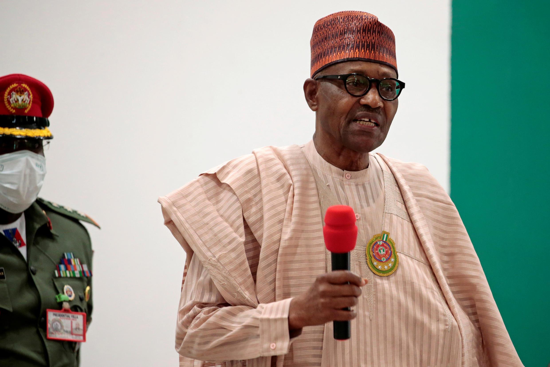 法廣存檔圖片:尼日利亞總統 Muhammadu Buhari  Image d'archive RFI : Le président nigérian Muhammadu Buhari à Katsina, au Nigeria, le 18 décembre 2020.