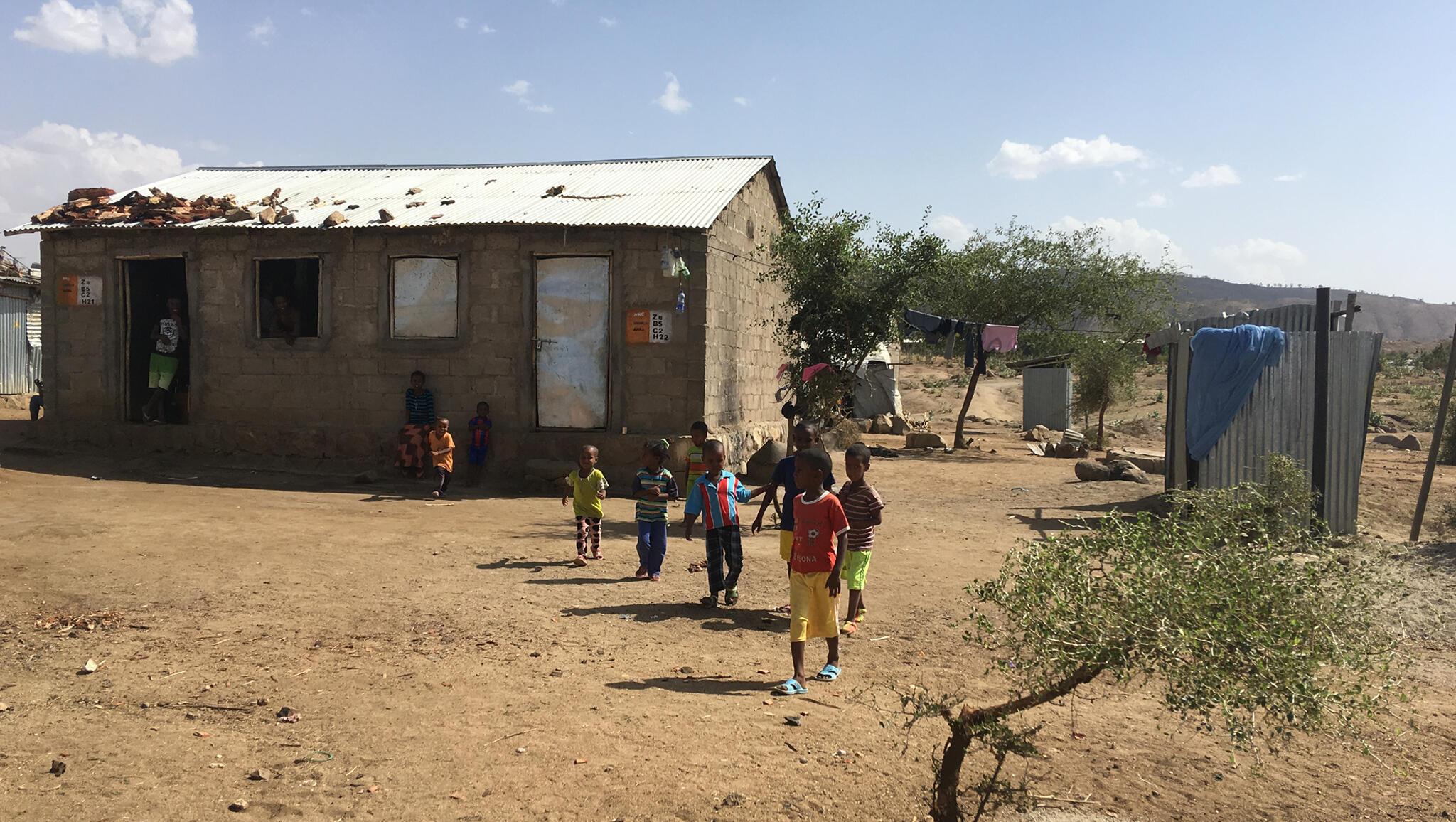 Le camp de réfugiés érythréens d'Hitsats, dans le nord de l'Ethiopie où se mène le programme de couloirs humanitaires.