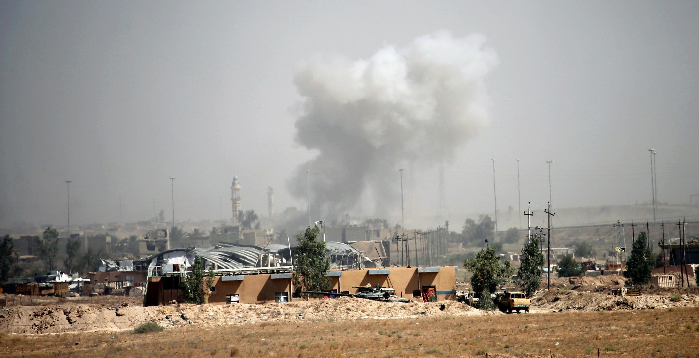 Бои между иракскими силами и боевиками ИГ в Эль-Фаллудже, Ирак, 17 июня 2016 г.