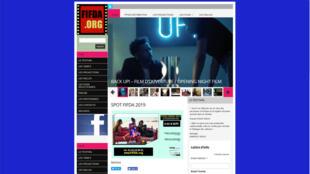 Page d'accueil du site du festival.