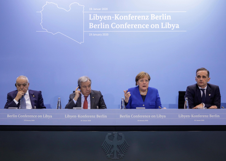 در کنفرانس لیبی، آنگلا مرکل صدراعظم آلمان و آنتونیو گوترش دبیرکل سازمان ملل متحد نتایج کنفرانس را به آگاهی خبرنگاران رساندند.