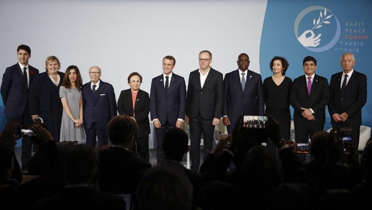 Douze chefs d'Etat et de gouvernement ont endossé l'idée d'un «pacte sur l'information et la démocratie», initiée par RSF au Forum sur la paix.