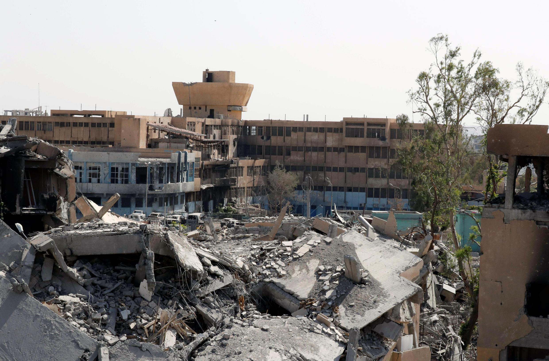 L'hôpital de Raqqa, jusque là dernier bastion du groupe EI dans la ville, le 8 octobre 2017.