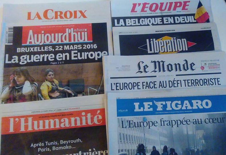 Capas diários franceses 23/03/16