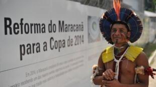 Le gouvernement brésilien veut transformer l'ancien musée des Indiens en centre commercial, les Indiens résistent.
