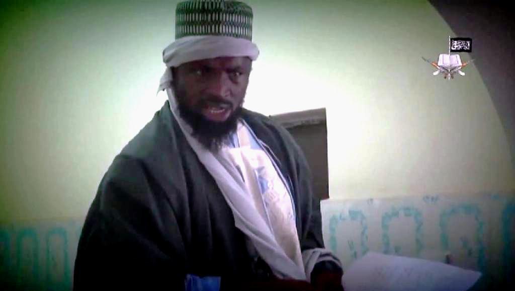 Le leader de Boko Haram, Abubakar Shekau, prêche pour la création d'un califat. Capture d'écran vidéo.