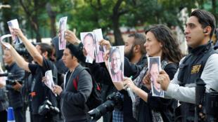 Manifestation de rédacteurs et de photographes à la suite du meurtre de Javier Valdez. A Mexico, le 16 mai 2017. Son nom résonne toujours chez les journalistes (photo d'illustration).