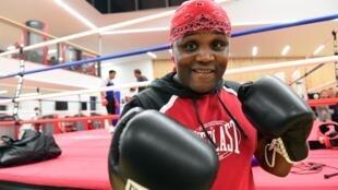 Le député belge Bea Diallo, lors d'un entrainement de boxe.