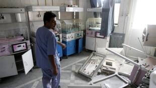 Hôpital à Alep.