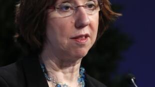Глава европейской дипломатии Кэтрин Эштон в Брюсселе 21/03/2013