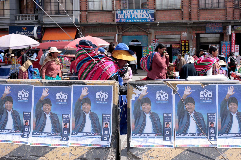 O presidente Evo Morales disputa seu quarto mandato e pode ser derrotado.