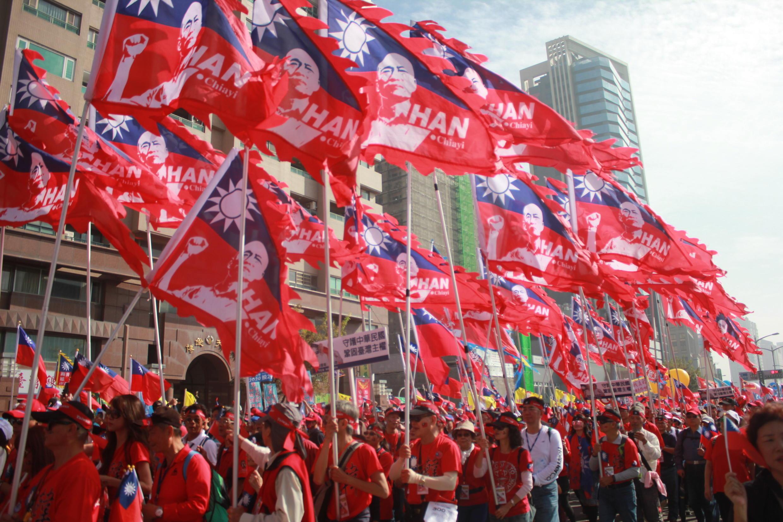 支持國民黨候選人韓國瑜2020年參選總統的遊行隊伍 2020年1月