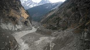 El valle del Rishi Ganga, en el Himalaya indio, el 9 de febrero de 2021