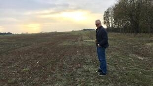 Michel Collignon on his farm in Houdelaucourt-sur-Othain, north-eastern France.