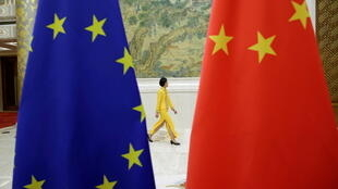 歐盟旗幟和中國國旗