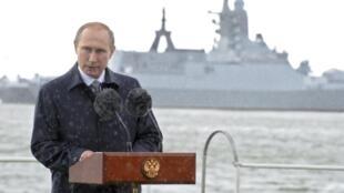 Presidente  discursa no Dia da Marinha Nacional no Mar Báltico 26.07.2015