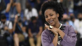 Haïti - Gessica Geneus_réalisatrice du long métrage Freda - Un certain Regard - Cannes 2021_AFP 000_9F28XF