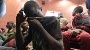 The latest mass kidnapping comes just two months after hundreds of schoolboys were abducted in Kankara, in northwestern Nigeria. Pictured: Kidnapped boys after their release