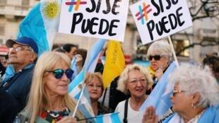 Les soutiens du président sortant Mauricio Macri ont donné de la voix dans les rues de Buenos Aires, samedi 19 octobre, à huit jours du premier tour.