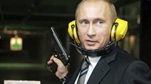 Путин  в тире  ГРУ (2006 г.)