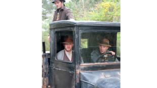 Les trois frères Bondurant : Howard (Jason Clarke), Forrest (Tom Hardy) et Jack (Shia LaBeouf) dans «Lawless» de John Hillcoat.