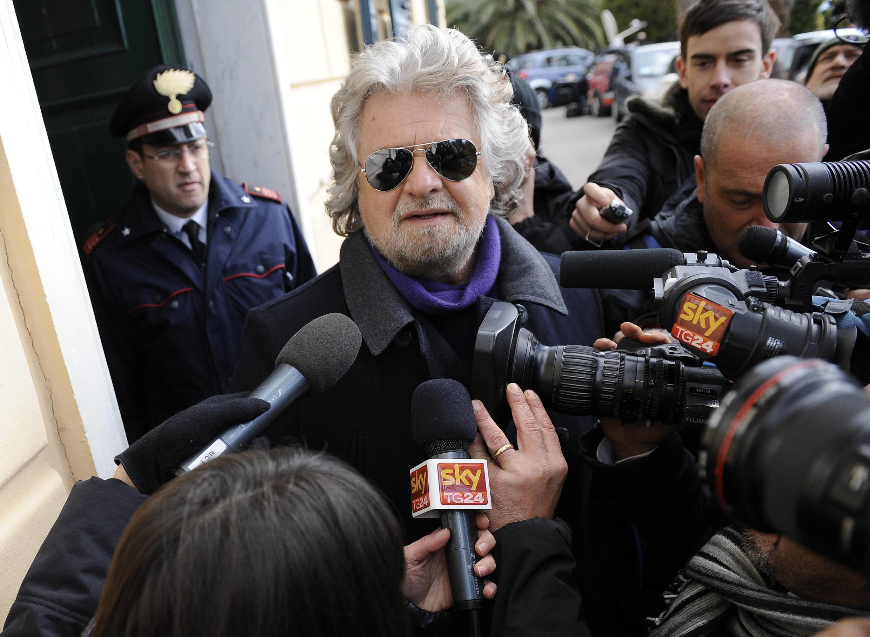 O ex-comediante Beppe Grillo, do movimento 5 estrelas