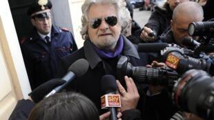 Movimento de comediante Beppe Grillo conseguiu 25% dos votos nas últimas eleições.