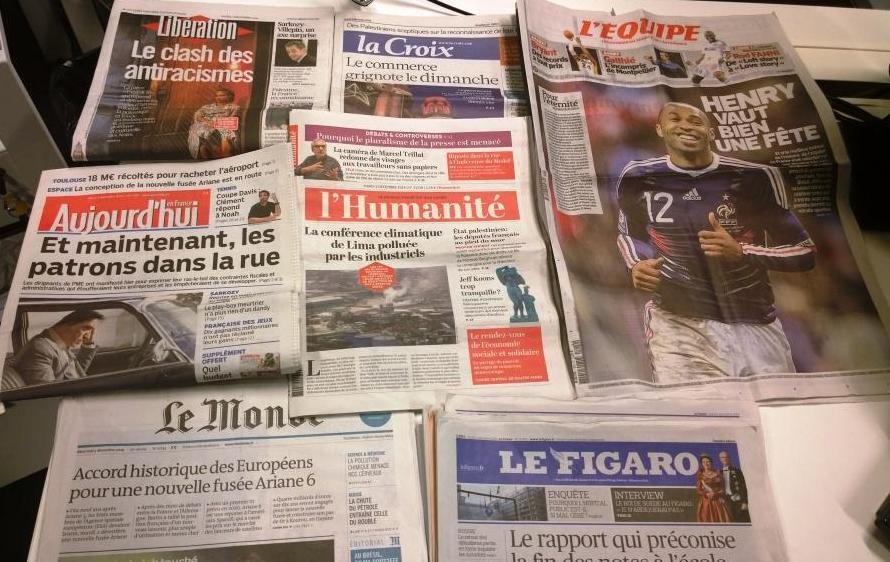 Diários franceses 02.12.2014