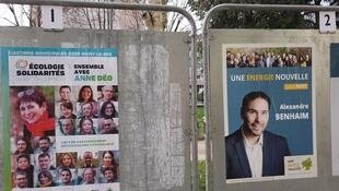 Campaign posters in Noisy-le-Sec