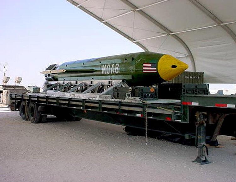 بمب ج بی یو- ۴۳ برای اولین بار در سال ۲۰۰۳ در فلوریدا مورد آزمایش قرار گرفت تا در جنگ عراق از آن استفاده شود اما روز گذشته برای اولین بار در افغانستان علیه پناهگاههای داعش مورد استفاده قرار گرفت.