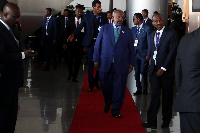 Le président djiboutien Ismaïl Omar Guelleh à son arrivée au sommet de l'Union africaine à Addis Abeba, le 10 février 2019 (illustration).