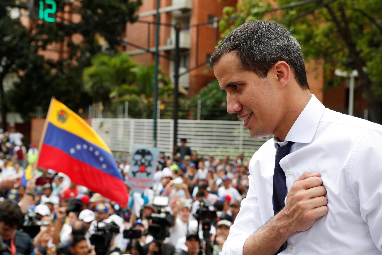 Lãnh đạo đối lập Venezuela Juan Guaido trong một cuộc mít tinh tại Caracas, tháng 7/2019.