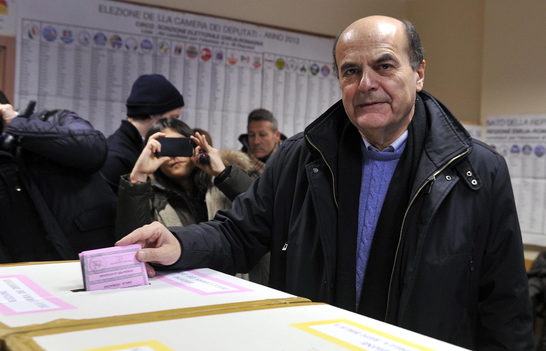 O líder da coalizão de centro-esquerda italiana, Pier Luigi Bersani.
