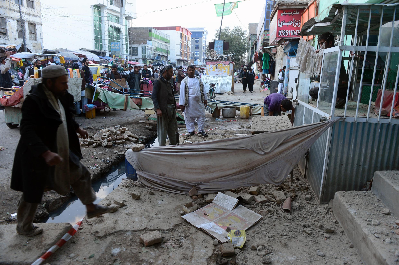 Dans la capitale afghane le séisme a causé beaucoup de dégâts. Kaboul, le 26 octobre 2015.