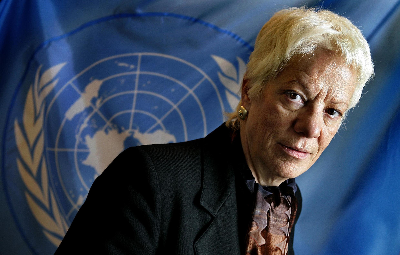 Carla del Ponte, le 7 mars 2005 à La Hague.