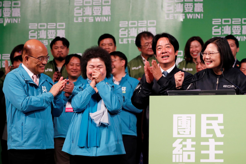 台湾总统蔡英文等资料图片