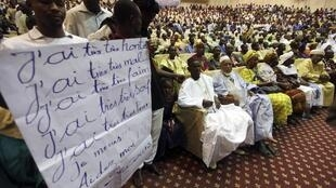Northern Malians at a meeting in Bamako