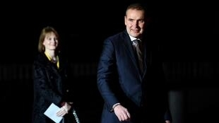 Iceland's President Gudni  Johannesson (R) is expected to win a second term