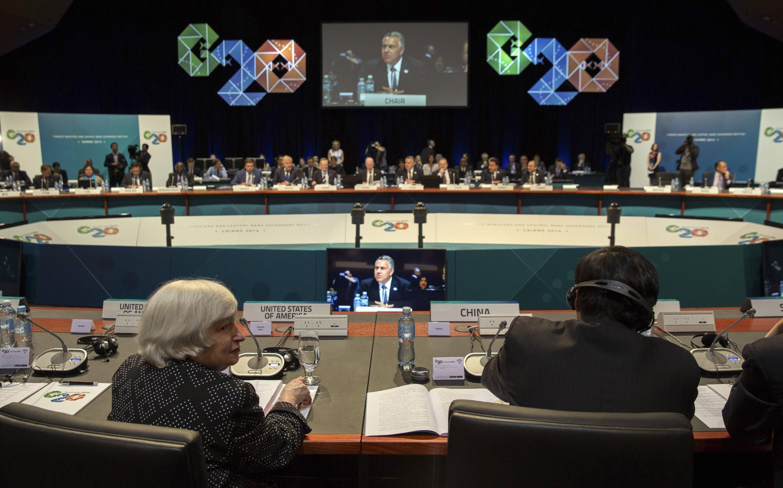 El G20 reunido en Cairns, Australia, este 20 de septiembre de 2014.