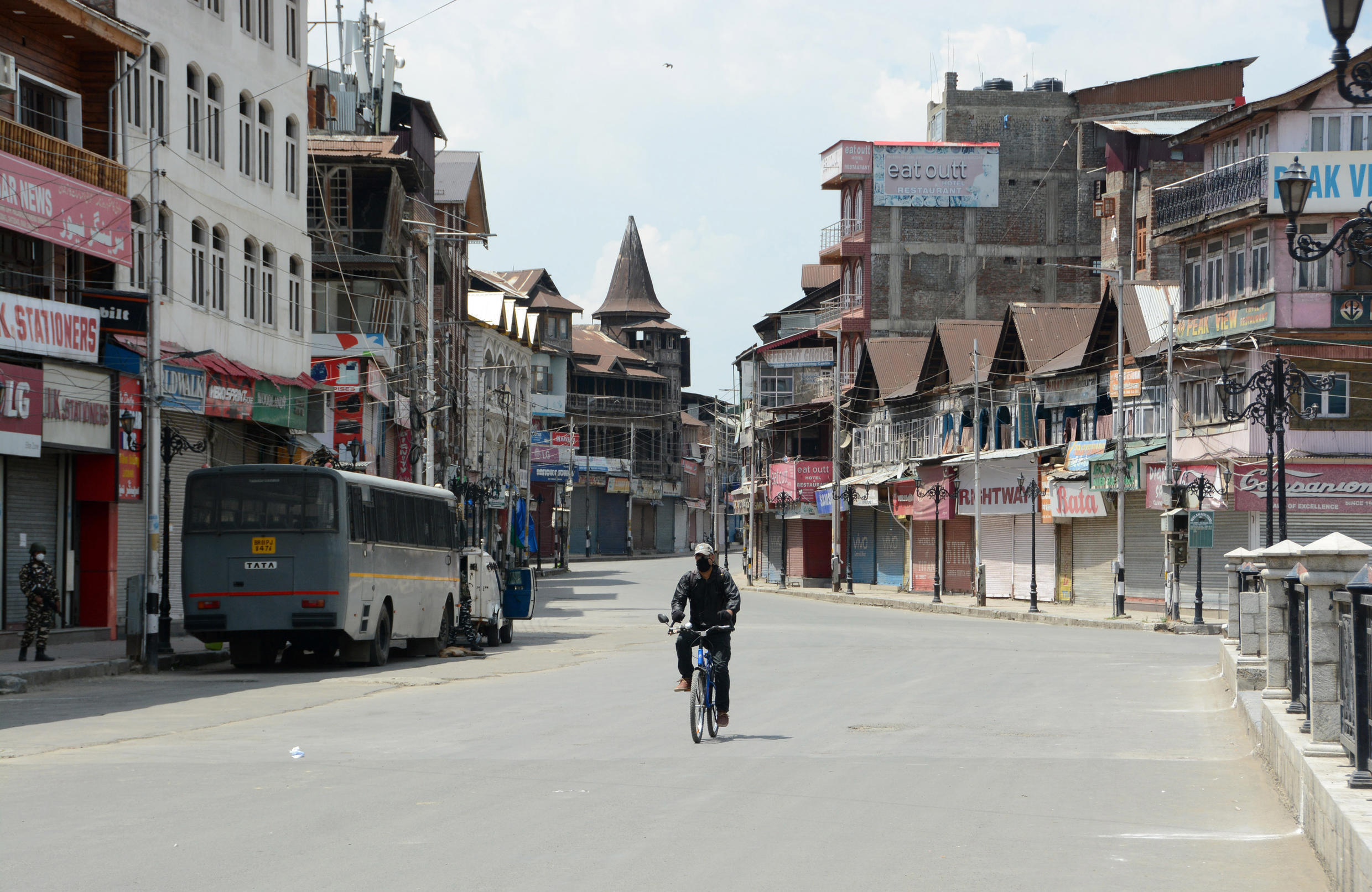 A tight curfew has been imposed by authorities on the first anniversary of the revocation of Kashmir's autonomy.