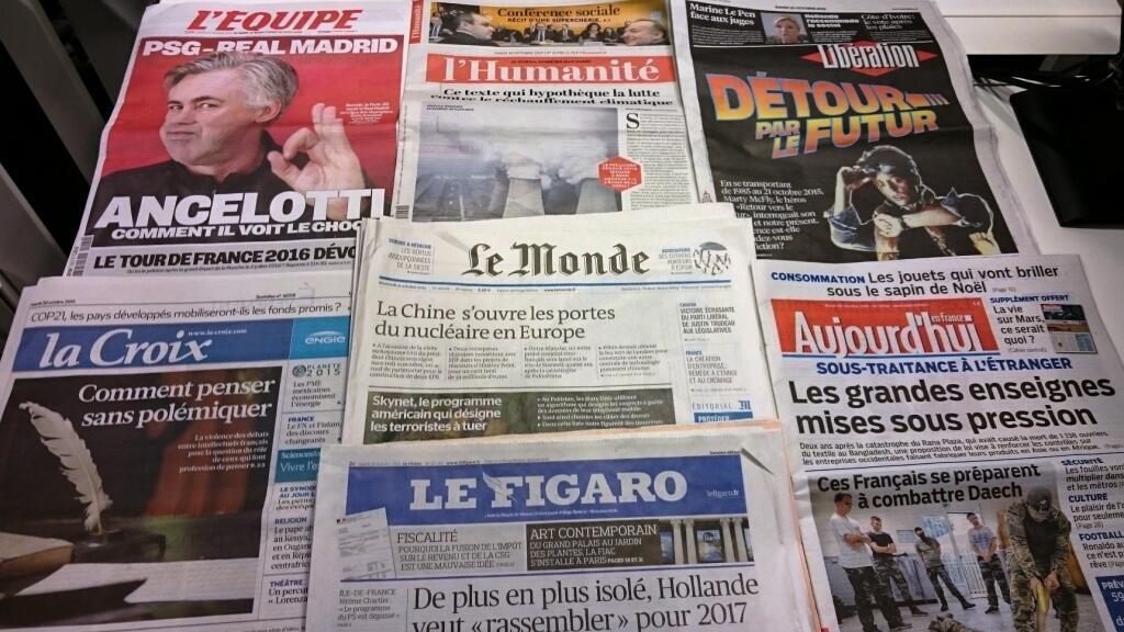 Diários franceses 20/10/2015