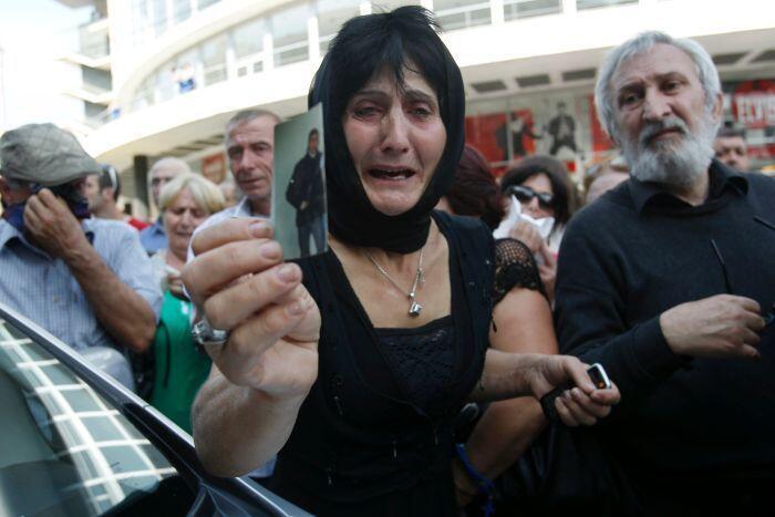 Митинг протеста родственников заключенных в Тбилиси