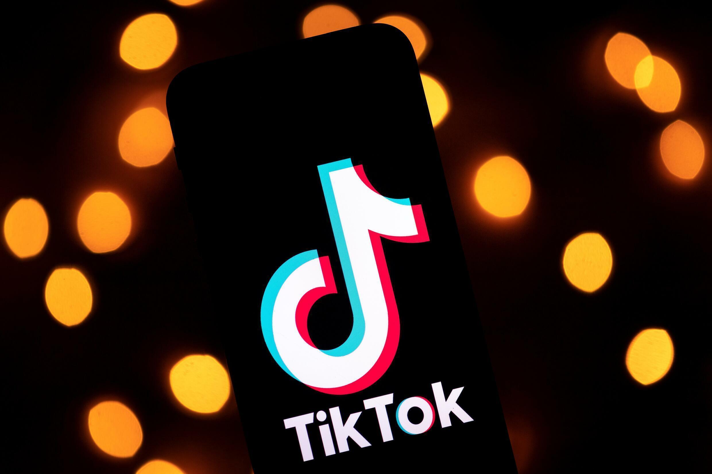 Logotipo de la red social TikTok que ha sido bloqueada en Pakistán por contenidos inapropiados el 21 de julio de 2021